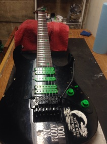 After fret level and bridge replacment