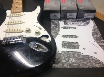 Beat up Stratocaster getting new frets and pickups